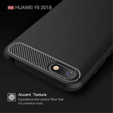 Huawei Honor 7s TPU Case Carbon Fiber Optik Brushed Schutz Hülle Blau – Bild 8