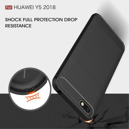 Huawei Honor 7s TPU Case Carbon Fiber Optik Brushed Schutz Hülle Grau – Bild 9