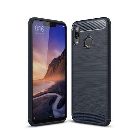 Huawei Nova 3 TPU Case Carbon Fiber Optik Brushed Schutz Hülle Blau