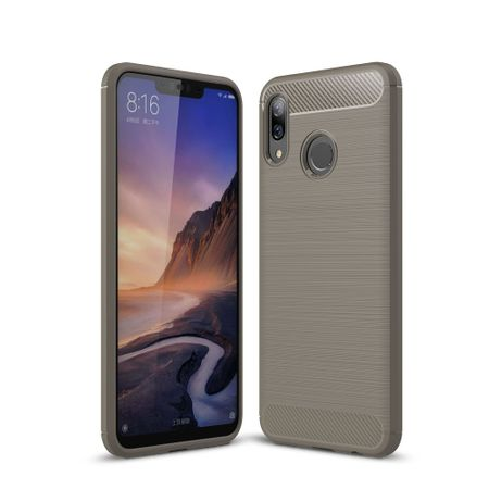 Huawei Nova 3 TPU Case Carbon Fiber Optik Brushed Schutz Hülle Grau
