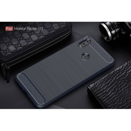 Huawei Honor Note 10 TPU Case Carbon Fiber Optik Brushed Schutz Hülle Blau – Bild 2