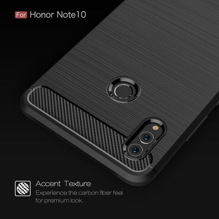 Huawei Honor Note 10 TPU Case Carbon Fiber Optik Brushed Schutz Hülle Grau – Bild 6