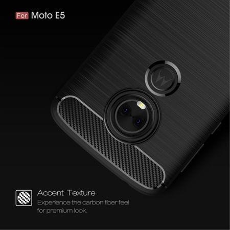 Motorola Moto G6 Play TPU Case Carbon Fiber Optik Brushed Schutz Hülle Schwarz – Bild 5