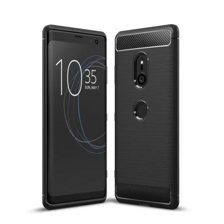 Motorola Moto Z3 TPU Case Carbon Fiber Optik Brushed Schutz Hülle Schwarz
