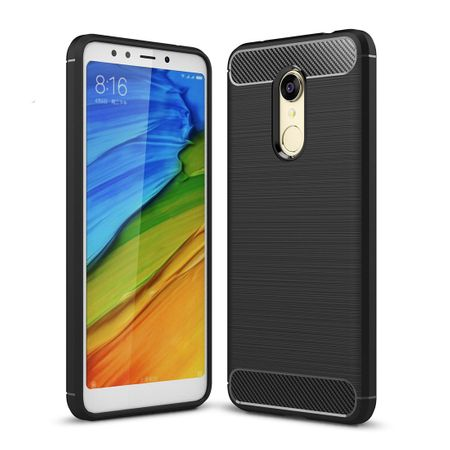 Xiaomi Redmi Note 5 TPU Case Carbon Fiber Optik Brushed Schutz Hülle Schwarz