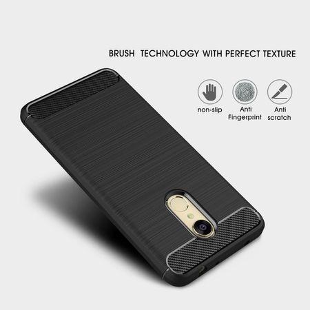 Xiaomi Redmi Note 5 TPU Case Carbon Fiber Optik Brushed Schutz Hülle Schwarz – Bild 4