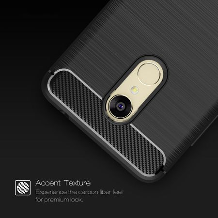 Xiaomi Redmi Note 5 TPU Case Carbon Fiber Optik Brushed Schutz Hülle Grau – Bild 5