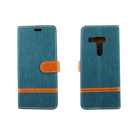HTC U12+ Plus Handy-Hülle Schutz-Tasche Case Cover Kartenfach Etuis Wallet Grün – Bild 3