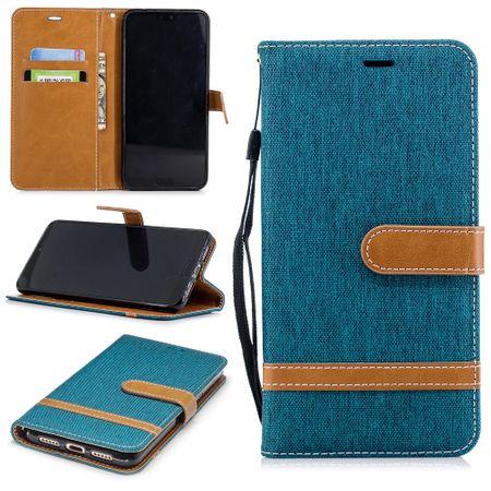 Huawei P20 Pro Handy-Hülle Schutz-Tasche Case Cover Kartenfach Etuis Wallet Grün