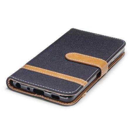 LG G7 Handy-Hülle Schutz-Tasche Case Cover Kartenfach Etuis Book-Style Schwarz – Bild 4