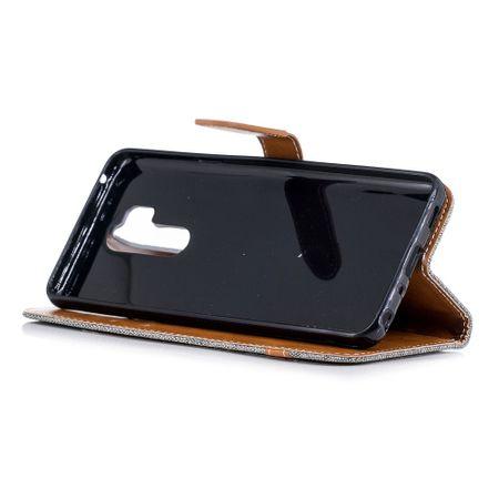 LG G7 Handy-Hülle Schutz-Tasche Case Cover Kartenfach Etuis Book-Style Grau – Bild 2