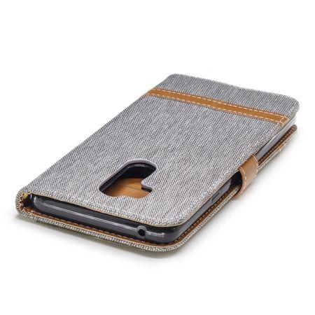 LG G7 Handy-Hülle Schutz-Tasche Case Cover Kartenfach Etuis Book-Style Grau – Bild 5