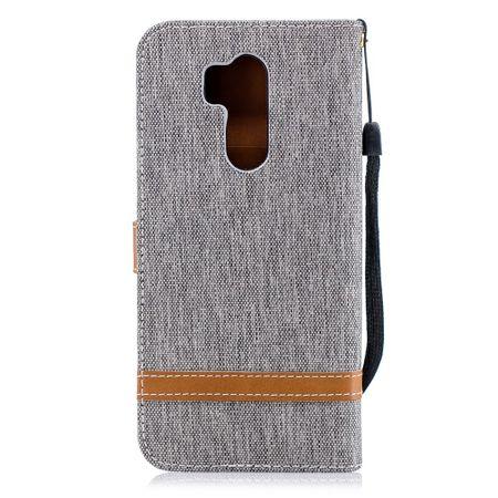 LG G7 Handy-Hülle Schutz-Tasche Case Cover Kartenfach Etuis Book-Style Grau – Bild 7