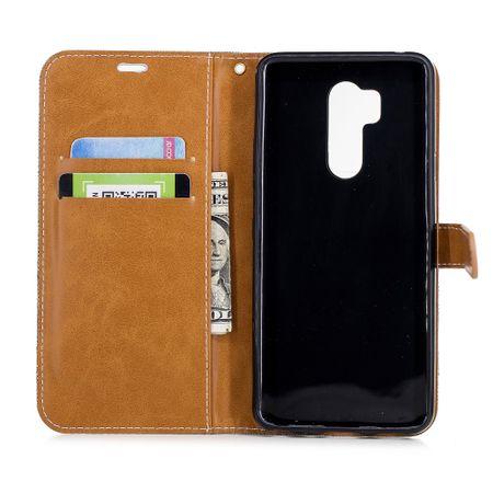 LG G7 Handy-Hülle Schutz-Tasche Case Cover Kartenfach Etuis Book-Style Grau – Bild 8