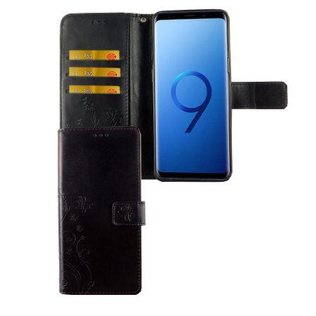 Samsung Galaxy S9 Handy-Hülle Schutz-Tasche Cover Flip-Case Kartenfach Schwarz