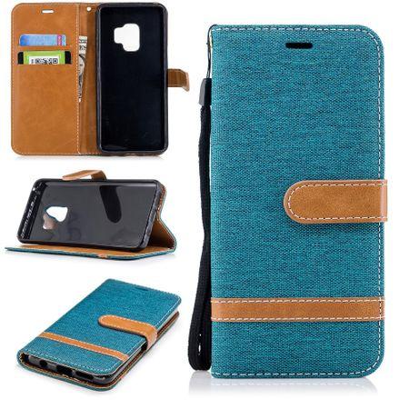 Samsung Galaxy S9 Handy-Hülle Schutz-Tasche Case Cover Kartenfach Etuis Grün