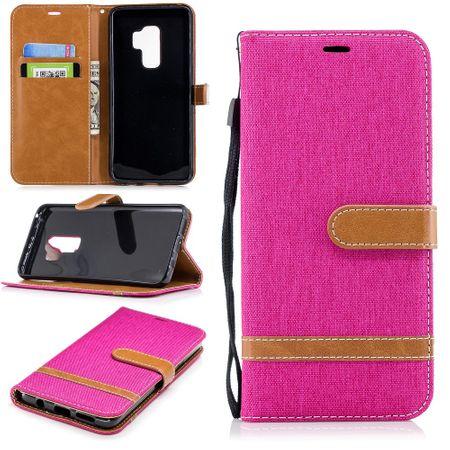 Samsung Galaxy S9+ Plus Handy-Hülle Schutz-Tasche Case Cover Kartenfach Pink