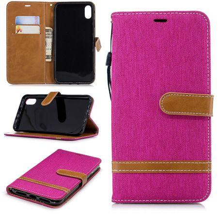 Apple iPhone XS Max Handy-Hülle Schutz-Tasche Case Cover Kartenfach Etuis Pink