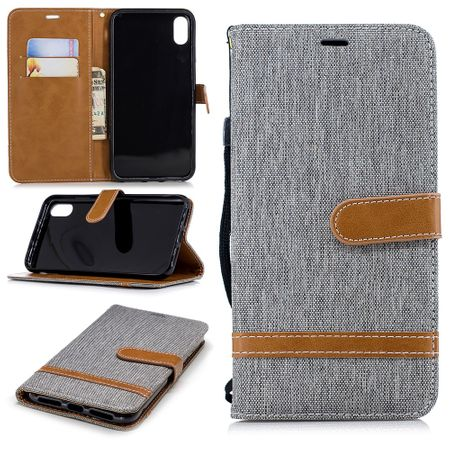 Apple iPhone XS Max Handy-Hülle Schutz-Tasche Case Cover Kartenfach Etuis Grau