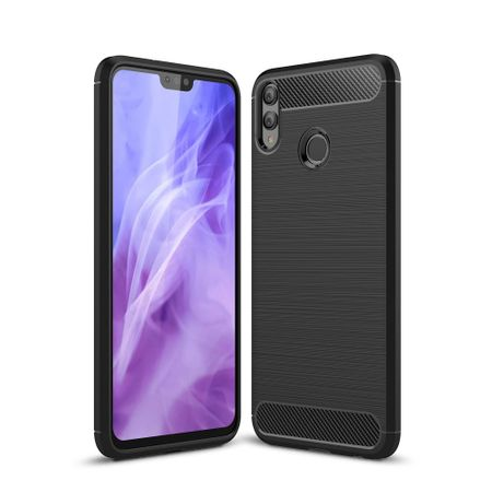 Huawei Honor 8X TPU Case Carbon Fiber Optik Brushed Schutz Hülle Schwarz