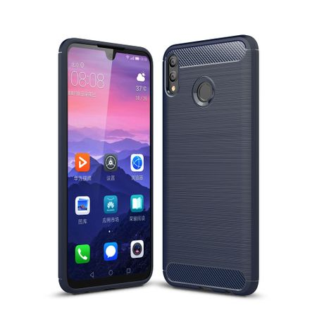 Huawei Honor 8X Max TPU Case Carbon Fiber Optik Brushed Schutz Hülle Blau