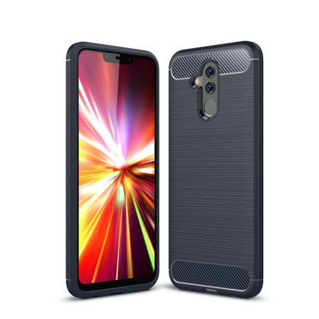 Huawei Mate 20 Lite TPU Case Carbon Fiber Optik Brushed Schutz Hülle Blau
