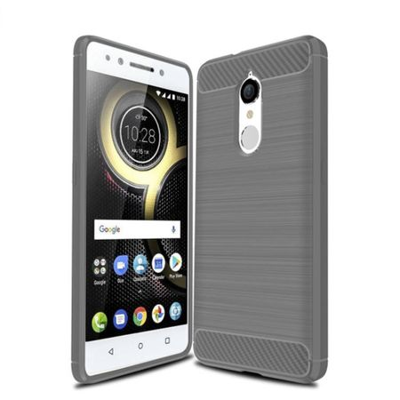 Lenovo K8 TPU Case Carbon Fiber Optik Brushed Schutz Hülle Grau