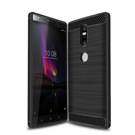 Lenovo Phab2 Plus TPU Case Carbon Fiber Optik Brushed Schutz Hülle Schwarz