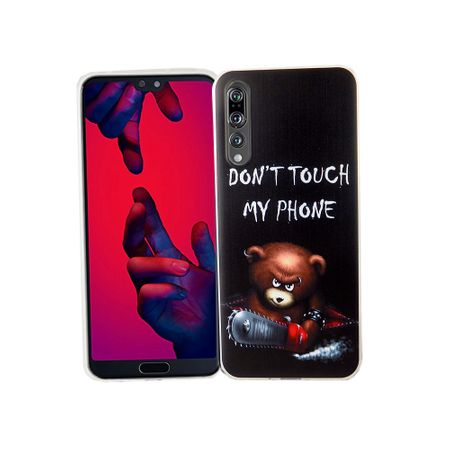 Huawei P20 Pro Handy-Hülle Schutz-Case Cover Bumper Dont Touch My Phone Bär