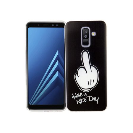 Samsung Galaxy A6 Plus 2018 Handy-Hülle Schutz-Case Cover Bumper Have a nice day