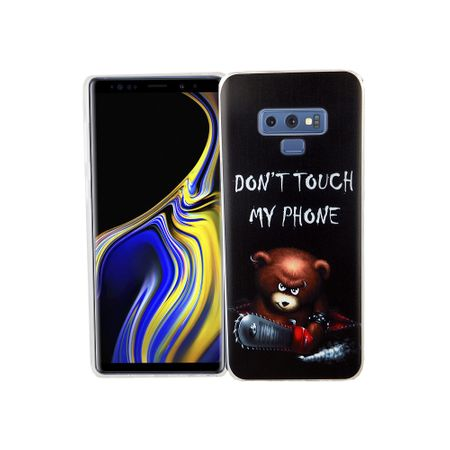 Samsung Galaxy Note 9 Handy-Hülle Schutz-Case Cover Bumper Dont Touch My Phone Bär