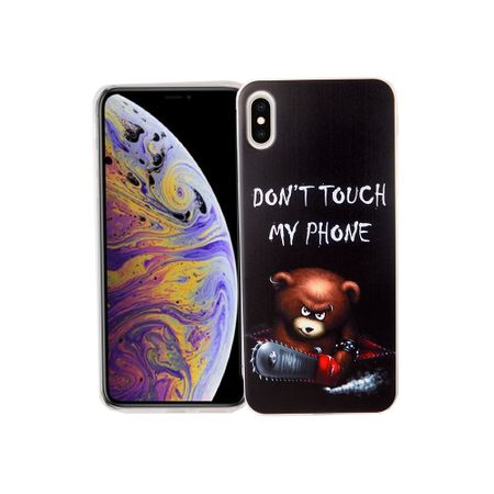 Apple iPhone XS Max Handy-Hülle Schutz-Case Cover Bumper Dont Touch My Phone Bär