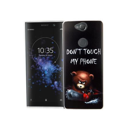 Sony Xperia XA2 Plus Handy-Hülle Schutz-Case Cover Bumper Dont Touch My Phone Bär