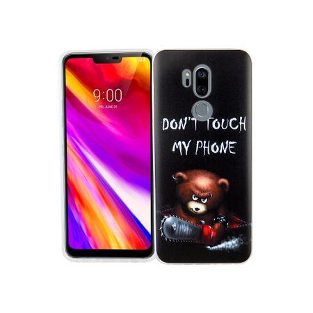 LG G7 Handy-Hülle Schutz-Case Cover Bumper Dont Touch My Phone Bär – Bild 1