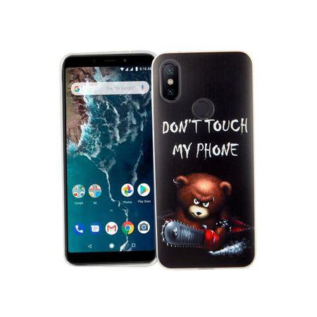 Xiaomi Mi 6X Handy-Hülle Schutz-Case Cover Bumper Dont Touch My Phone Bär – Bild 2