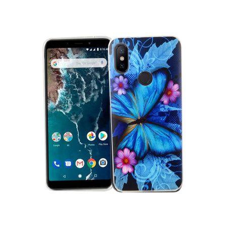 Xiaomi Mi 6X Handy-Hülle Schutz-Case Cover Bumper Schmetterling Blau – Bild 2