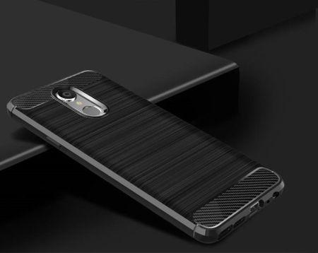 LG Q8 2018 TPU Case Carbon Fiber Optik Brushed Schutz Hülle Schwarz – Bild 2