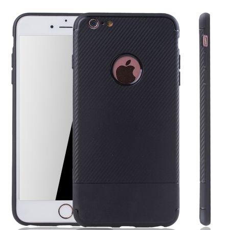 Apple iPhone 6 / 6s Handyhülle Schutzcase Carbon Optik Bumper Schwarz
