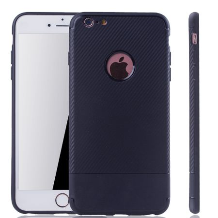 Apple iPhone 6 / 6s Handyhülle Schutzcase Carbon Optik Bumper Blau