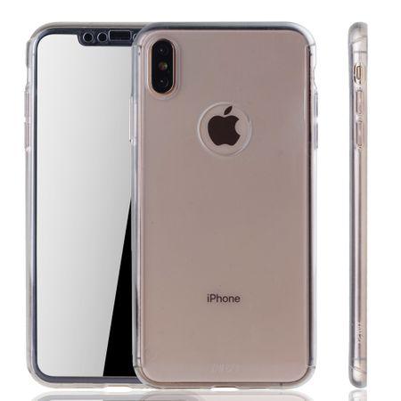 Apple iPhone XS Max Handy-Hülle Schutz-Case Full-Cover Panzer Schutz Glas Transparent