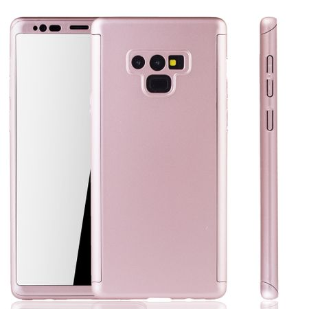Samsung Galaxy Note 9 Handyhülle Schutzcase Full Cover 360 Displayschutz Folie Rose