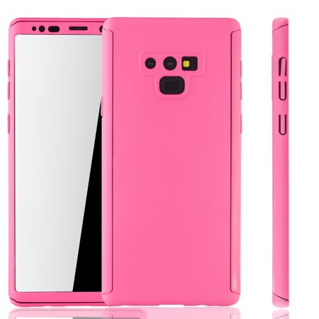 Samsung Galaxy Note 9 Handyhülle Schutzcase Full Cover 360 Displayschutz Folie Pink