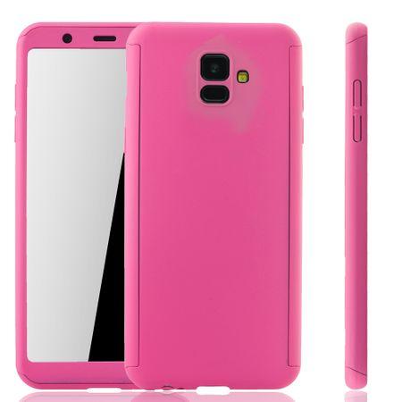 Samsung Galaxy A6 Hülle Case Handy Cover Schutz Tasche 360 Fullcover Panzerfolie