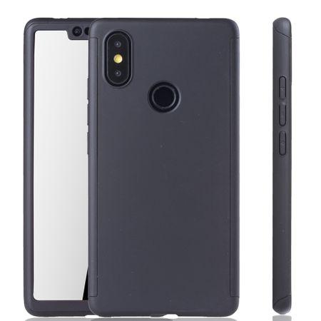 Xiaomi Mi 8 SE Handy-Hülle Schutz-Case Full-Cover Panzer Schutz Glas Schwarz