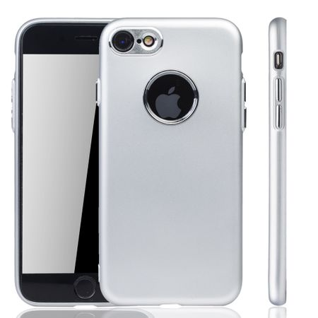 Apple iPhone 7 / 8 Hülle - Handyhülle für Apple iPhone 7 / 8 - Handy Case in Silber – Bild 1