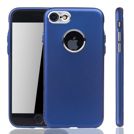 Apple iPhone 7 / 8 Hülle - Handyhülle für Apple iPhone 7 / 8 - Handy Case in Dunkelblau – Bild 1