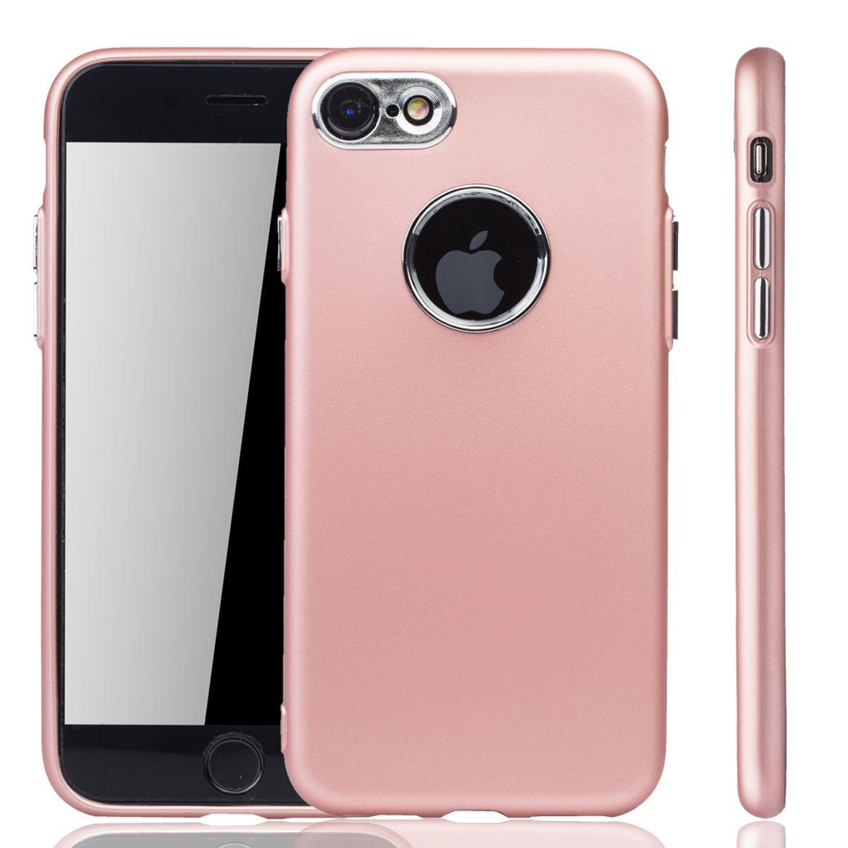 apple iphone 7 8 h lle handyh lle f r apple iphone 7 8 handy case in rose pink. Black Bedroom Furniture Sets. Home Design Ideas