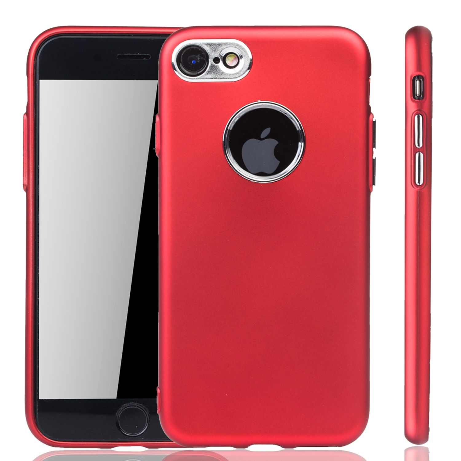 apple iphone 7 8 h lle handyh lle f r apple iphone 7 8 handy case in rot. Black Bedroom Furniture Sets. Home Design Ideas