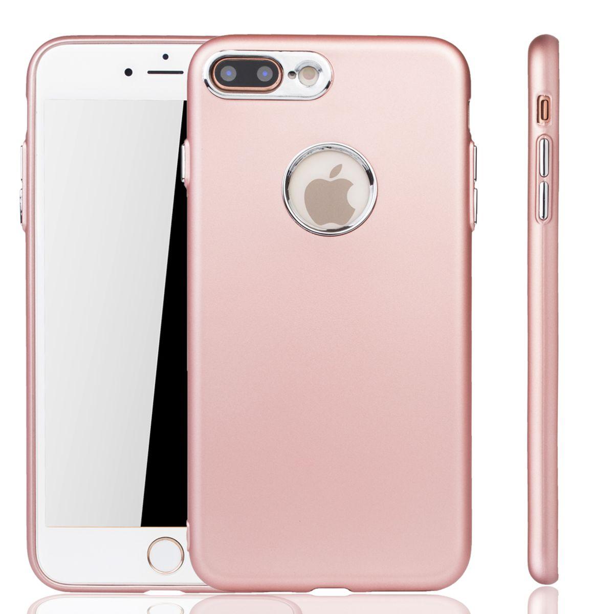 apple iphone 7 8 plus h lle handyh lle f r apple iphone 7 8 plus handy case in rose pink. Black Bedroom Furniture Sets. Home Design Ideas