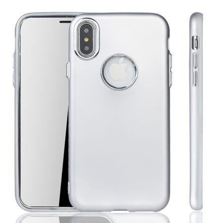 Apple iPhone X / XS Hülle - Handyhülle für Apple iPhone X / XS - Handy Case in Silber – Bild 1